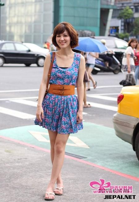 北型人街头潮流服饰搭配-长裙图片