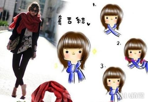 【围巾系法】男女士时尚围巾的各种围法系法图解